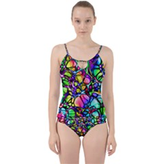 Network Nerves Cut Out Top Tankini Set by Alisyart