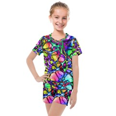 Network Nerves Kids  Mesh Tee And Shorts Set