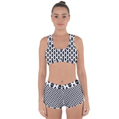 Triangle Seamless Pattern Racerback Boyleg Bikini Set