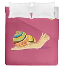 Snail Color Nature Animal Duvet Cover Double Side (queen Size) by Alisyart