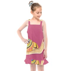 Snail Color Nature Animal Kids  Overall Dress by Alisyart