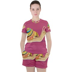 Snail Color Nature Animal Women s Tee And Shorts Set by Alisyart
