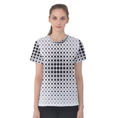 Square Center Pattern Background Women s Cotton Tee by Alisyart