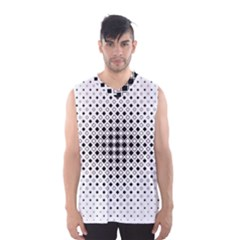 Square Center Pattern Background Men s Basketball Tank Top