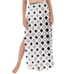Square Center Pattern Background Maxi Chiffon Tie Up Sarong