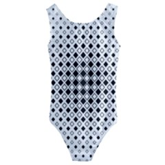 Square Center Pattern Background Kids  Cut Out Back One Piece Swimsuit