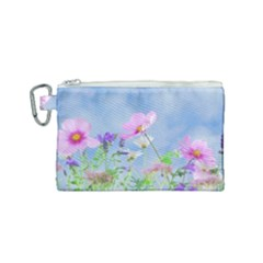 Flora Canvas Cosmetic Bag (small) by WensdaiAddamns