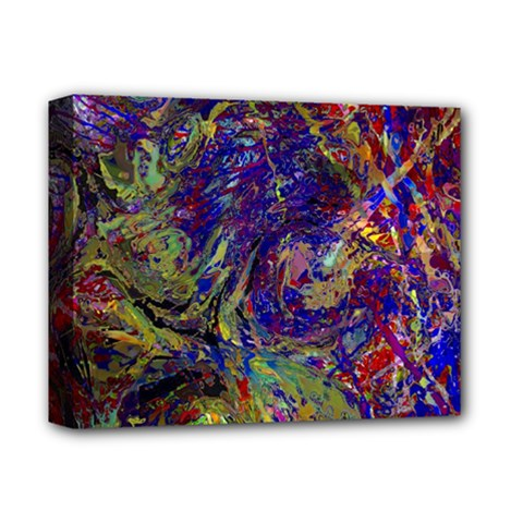 Crazy Colors  11 Deluxe Canvas 14  X 11  (stretched) by MoreColorsinLife