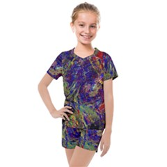 Crazy Colors  11 Kids  Mesh Tee And Shorts Set by MoreColorsinLife