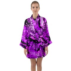 Winter Fractal  Long Sleeve Kimono Robe by Fractalworld