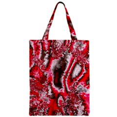 Winter Fractal 5 Zipper Classic Tote Bag