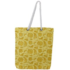 Vintage Pattern 11901e Full Print Rope Handle Tote (large)