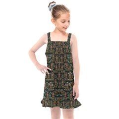 Love My Leggings And Top Ornate Pop Art`s Collage Kids  Overall Dress