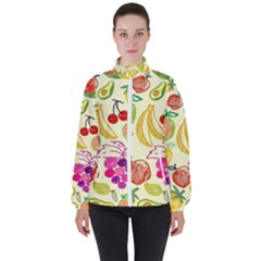 Seamless Pattern Desktop Decoration High Neck Windbreaker (women) by Pakrebo