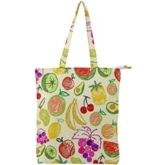 Seamless Pattern Desktop Decoration Double Zip Up Tote Bag