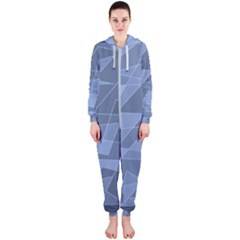 Lines Shapes Pattern Web Creative Hooded Jumpsuit (ladies)