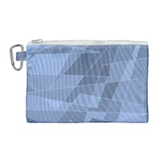 Lines Shapes Pattern Web Creative Canvas Cosmetic Bag (large)