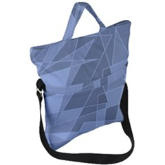 Lines Shapes Pattern Web Creative Fold Over Handle Tote Bag