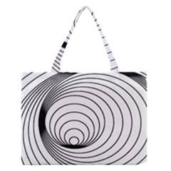 Spiral Line Zipper Medium Tote Bag by Jojostore