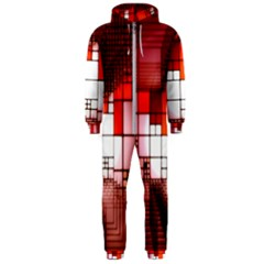 Pattern Structure Light Patterns Hooded Jumpsuit (men)