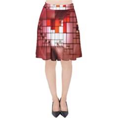 Pattern Structure Light Patterns Velvet High Waist Skirt