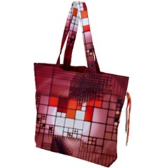 Pattern Structure Light Patterns Drawstring Tote Bag