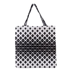 Triangle Black Grocery Tote Bag