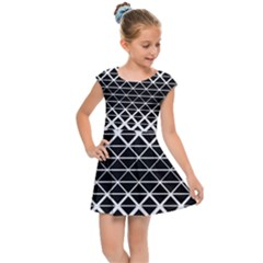 Triangle Black Kids  Cap Sleeve Dress
