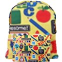 Fabric Cloth Textile Clothing Giant Full Print Backpack View1