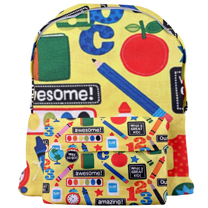 Fabric Cloth Textile Clothing Giant Full Print Backpack