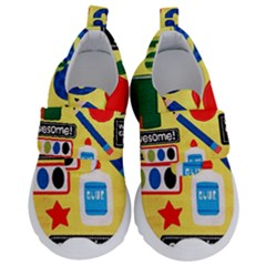 Fabric Cloth Textile Clothing Kids  Velcro No Lace Shoes by Pakrebo