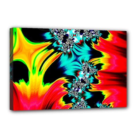 Fractal Mandelbrot Art Wallpaper Canvas 18  X 12  (stretched)