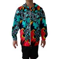 Fractal Mandelbrot Art Wallpaper Hooded Windbreaker (kids)