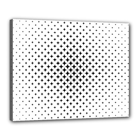 Star Curved Pattern Canvas 20  X 16  (stretched) by Jojostore