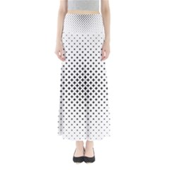 Star Curved Pattern Full Length Maxi Skirt by Jojostore