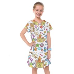 Baby Equipment Child Sketch Hand Kids  Drop Waist Dress