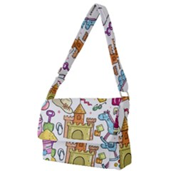 Baby Equipment Child Sketch Hand Full Print Messenger Bag