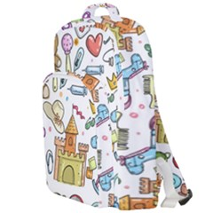 Baby Equipment Child Sketch Hand Double Compartment Backpack