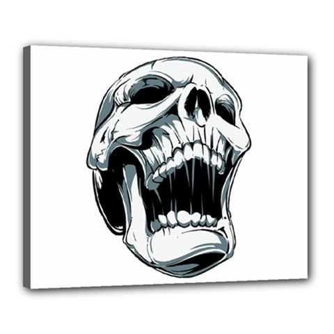 Skull Screaming Canvas 20  X 16  (stretched) by Jojostore