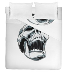 Skull Screaming Duvet Cover Double Side (queen Size)