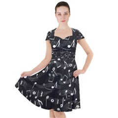 Fabric Cloth Textile Clothing Cap Sleeve Midi Dress