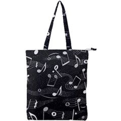 Fabric Cloth Textile Clothing Double Zip Up Tote Bag