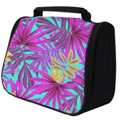 Tropical Pink Leaves Full Print Travel Pouch (big) by Jojostore