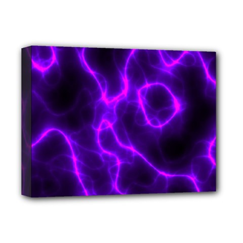 Purple Pattern Background Structure Deluxe Canvas 16  X 12  (stretched)