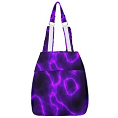 Purple Pattern Background Structure Center Zip Backpack