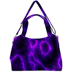Purple Pattern Background Structure Double Compartment Shoulder Bag