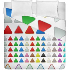 Triangle Button Metallic Metal Duvet Cover Double Side (king Size) by Jojostore