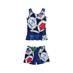 Textile Football Soccer Fabric Kids  Boyleg Swimsuit by Pakrebo