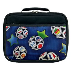 Textile Football Soccer Fabric Lunch Bag by Pakrebo