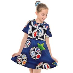 Textile Football Soccer Fabric Kids  Short Sleeve Shirt Dress